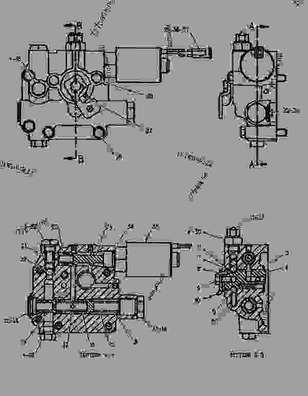Parts scheme 1096401  VALVE GROUP-TRANSMISSION CONTROL   - BACKHOE LOADER Caterpillar 426B - 426B BACKHOE LOADER 5YJ00001-02299 (MACHINE) POWERED BY 3054 ENGINE POWER TRAIN | 777parts