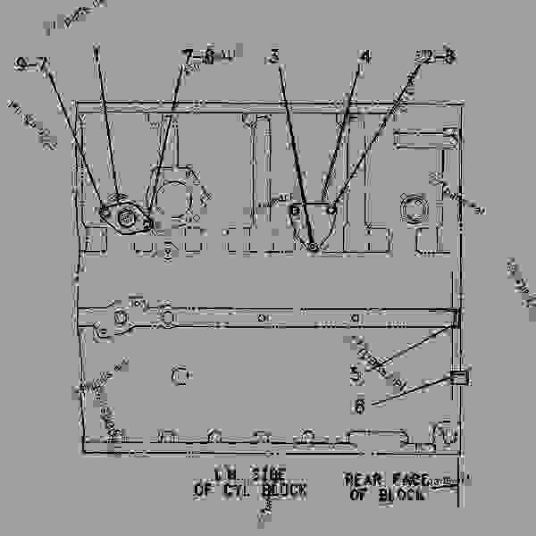 Parts scheme 2Y1958 COVER GROUP-CYLINDER BLOCK   - ENGINE - GENERATOR SET Caterpillar 3306B - 3306B GEN SET ENGINE 3RG00001-UP BASIC ENGINE | 777parts