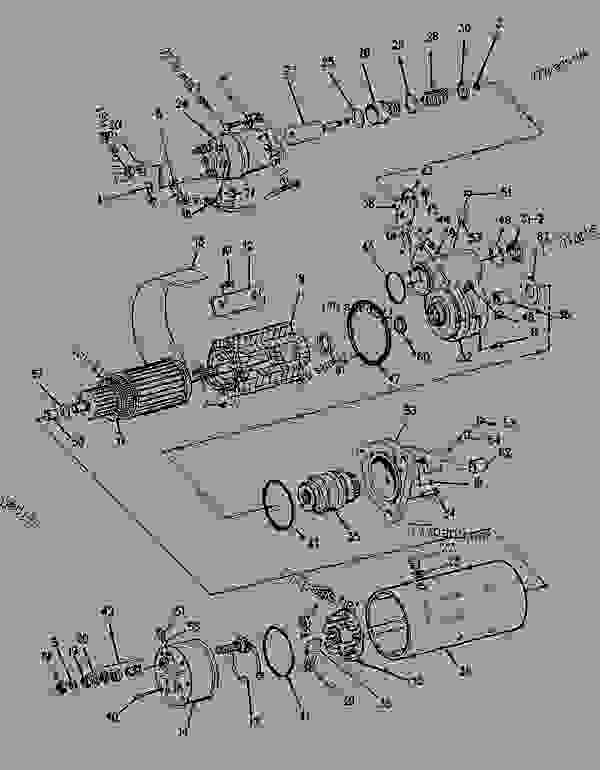 Parts scheme 8C3593  STARTING MOTOR GROUP-ELECTRIC   - CHALLENGER Caterpillar 75 - CHALLENGER 75 / POWER SHIFT / 4CJ00001-UP (MACHINE) POWERED BY 3176 ENGINE ELECTRICAL SYSTEM | 777parts