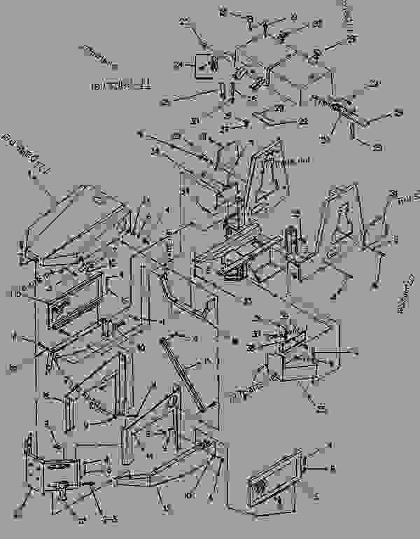 Parts scheme 7R7188 SHEET METAL GROUP  - PAVING COMPACTOR Caterpillar CB-314 - CB-314 VIBRATORY COMPACTOR 6HD00009-UP (MACHINE) FRAME AND BODY | 777parts
