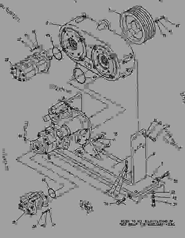 Parts scheme 0822707 GEARBOX & PUMP AS  - COLD PLANER Caterpillar PR-450 - PR-450 COLD PLANER 7DC00204-UP (MACHINE) POWERED BY 3408 ENGINE POWER TRAIN | 777parts
