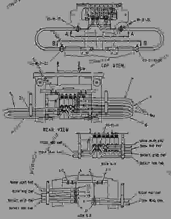 Parts scheme 1163206 LINES GROUP-HYDRAULIC  - BACKHOE LOADER Caterpillar 428B - 428B BACKHOE LOADER 7EJ00001-05999 (MACHINE) POWERED BY 3054 DIESEL ENGINE HYDRAULIC SYSTEM | 777parts