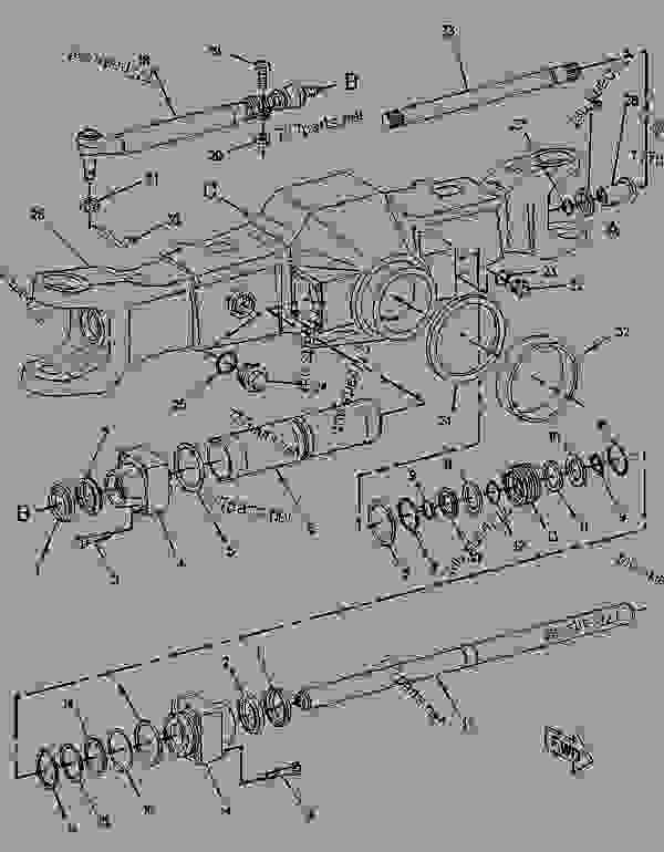 Parts scheme 1187774 AXLE AS-DRIVE & STEERING   - BACKHOE LOADER Caterpillar 436B - 436B BACKHOE LOADER 6MJ00001-UP (MACHINE) POWERED BY 3054 ENGINE POWER TRAIN | 777parts