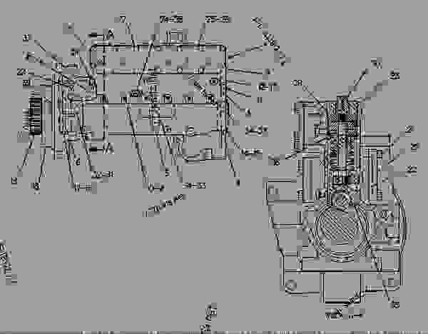 Parts scheme 4P1381 PUMP GROUP-FUEL INJECTION   - ENGINE - GENERATOR SET Caterpillar 3406B - 3406B GENERATOR SET ENGINE 2WB00001-11475 FUEL SYSTEM AND GOVERNOR | 777parts