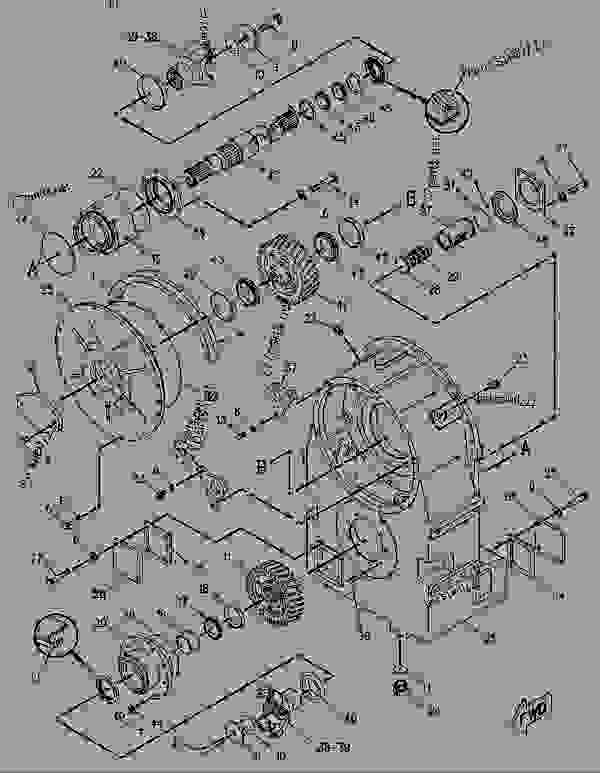 Parts scheme 8P2186 GEAR GROUP-OUTPUT TRANSFER  - EARTHMOVING COMPACTOR Caterpillar 816B - 816B LANDFILL COMPACTOR 15Z00001-UP (MACHINE) POWERED BY 3306 ENGINE POWER TRAIN-POWER TRANSMISSION UNIT | 777parts