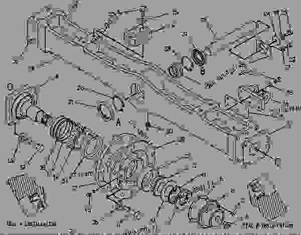 Parts scheme 3W5061  AXLE GROUP-FRONT   - CHALLENGER Caterpillar 75 - CHALLENGER 75 / POWER SHIFT / 4CJ00001-UP (MACHINE) POWERED BY 3176 ENGINE FRAME AND BODY | 777parts