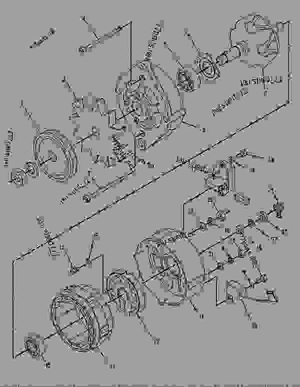 Parts scheme 7T2876 ALTERNATOR GROUP-CHARGING   - BACKHOE LOADER Caterpillar 428 - 428 BACKHOE LOADER 6TC00001-02693 (MACHINE) STARTING AND ELECTRICAL SYSTEM | 777parts