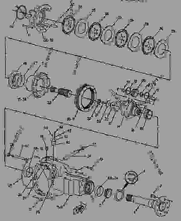 Parts scheme 1185834  AXLE AS-REAR   - BACKHOE LOADER Caterpillar 426B - 426B BACKHOE LOADER 5YJ00001-02299 (MACHINE) POWERED BY 3054 ENGINE POWER TRAIN | 777parts