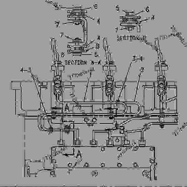 Parts scheme 4P9658 LINES GROUP-FUEL INJECTION   - ENGINE - GENERATOR SET Caterpillar 3406B - 3406B GENERATOR SET ENGINE 2WB00001-11475 FUEL SYSTEM AND GOVERNOR | 777parts