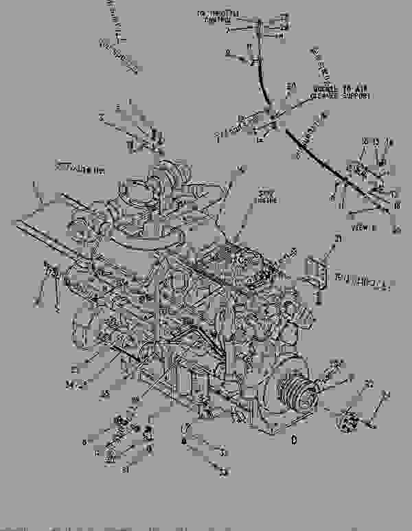 Parts scheme 7R7502 ENGINE GROUP  - COLD PLANER Caterpillar PR-750B - PR-750B PAVEMENT PROFILER 8AC00001-UP (MACHINE) POWERED BY 3412 ENGINE BASIC ENGINE | 777parts