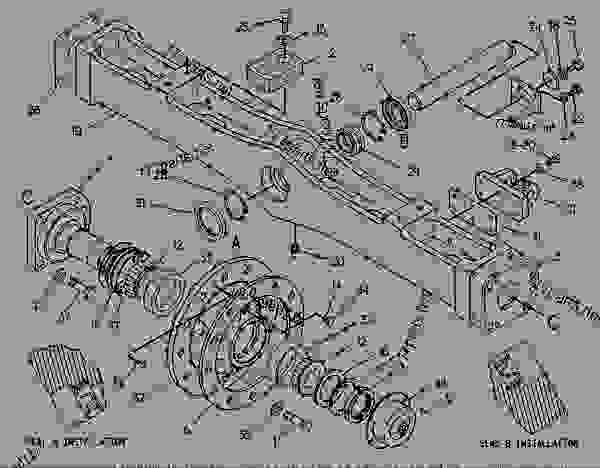 Parts scheme 9U1845 AXLE GROUP-FRONT  - CHALLENGER Caterpillar 65C - CHALLENGER 65C 2ZJ00001-00999 (MACHINE) POWERED BY 3306 ENGINE FRAME AND BODY | 777parts