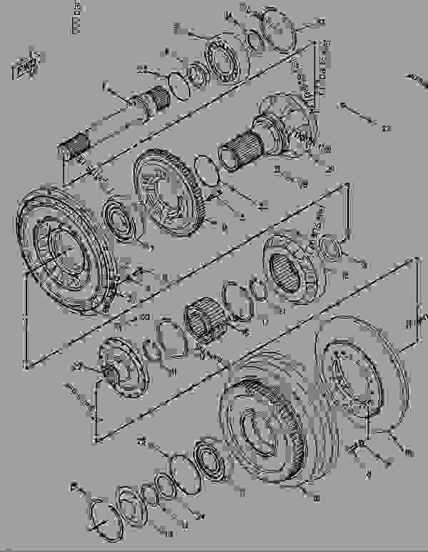 Parts scheme 1463327 TORQUE CONVERTER GROUP   - EARTHMOVING COMPACTOR Caterpillar 816B - 816B LANDFILL COMPACTOR 15Z00001-UP (MACHINE) POWERED BY 3306 ENGINE POWER TRAIN-POWER TRANSMISSION UNIT | 777parts