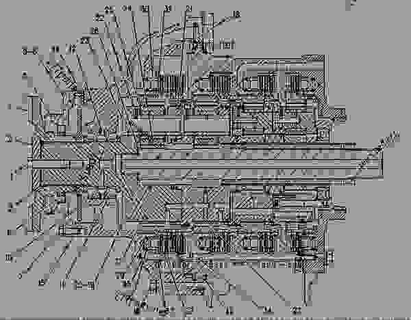 Parts scheme 7T3439  PLANETARY GROUP PLANETARY GP - CHALLENGER Caterpillar 65D - CHALLENGER 65C 2ZJ00001-00999 (MACHINE) POWERED BY 3306 ENGINE TRANSMISSION | 777parts