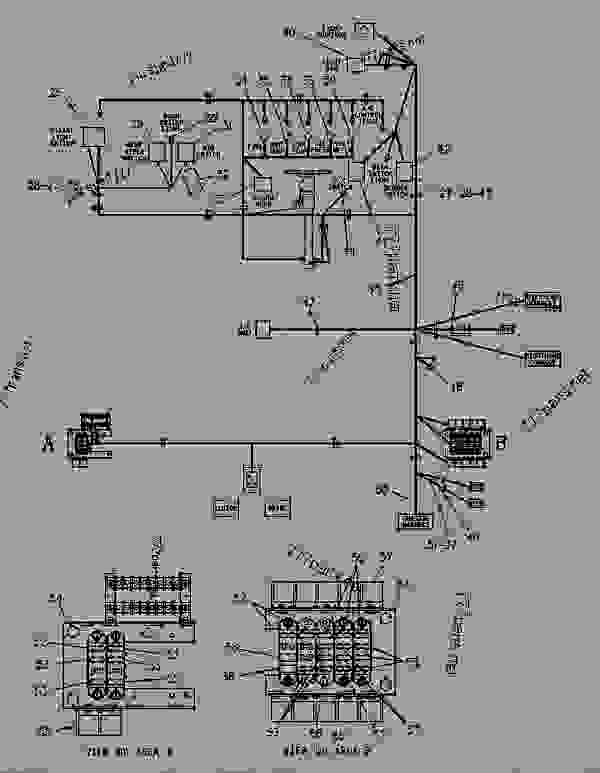 Parts scheme 9U1693 WIRING GROUP-CAB   - CHALLENGER Caterpillar 65D - CHALLENGER 65C 2ZJ00001-00999 (MACHINE) POWERED BY 3306 ENGINE OPERATOR STATION | 777parts