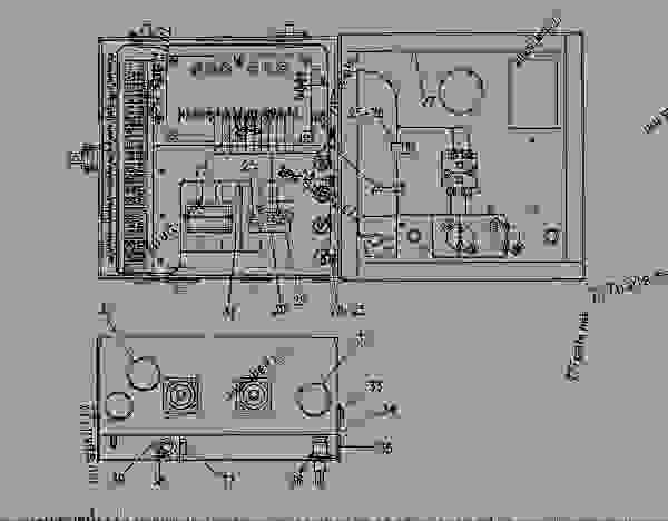 Parts scheme 4W9602 JUNCTION BOX GROUP  - ENGINE - GENERATOR SET Caterpillar 3208 - 3208 GENERATOR SET ENGINE 29A00225-UP STARTING AND ELECTRICAL SYSTEM | 777parts