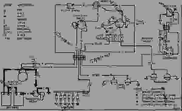 wiring diagram - track-type tractor caterpillar d6c   direct drive    23u00001