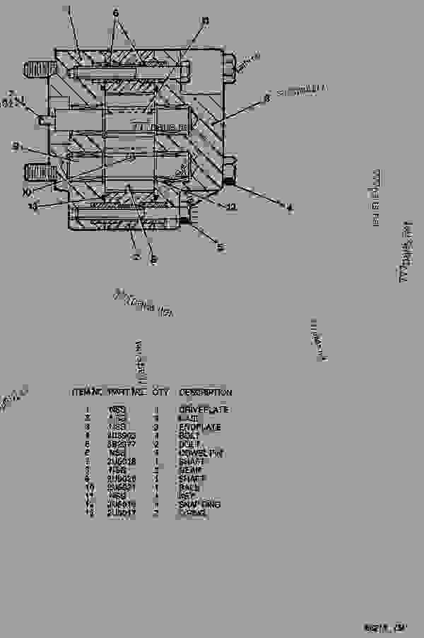 Parts scheme 2U4892 TORQUE CONVERTER PUMP GROUP  - ARTICULATED DUMP TRUCK Caterpillar D44B - D44B ARTICULATED DUMP TRUCK 8SD00001-UP (MACHINE) POWERED BY 3408 ENGINE TRANSMISSION, DRIVE TRAIN, AXLES AND WHEELS | 777parts