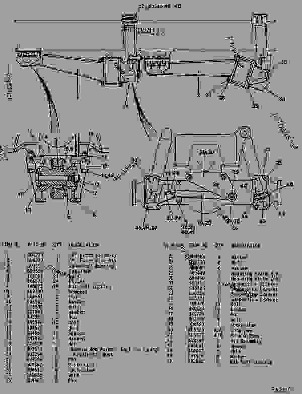 Parts scheme  REAR SUSPENSION GROUP  - ARTICULATED DUMP TRUCK Caterpillar D550B - D550B ARTICULATED DUMP TRUCK 5ND00001-UP (MACHINE) POWERED BY 3408 ENGINE SUSPENSION SYSTEM | 777parts