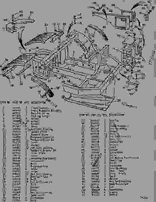 Parts scheme  CHASSIS GROUP - TRACTOR  - ARTICULATED DUMP TRUCK Caterpillar D550B - D550B ARTICULATED DUMP TRUCK 5ND00001-UP (MACHINE) POWERED BY 3408 ENGINE CHASSIS | 777parts