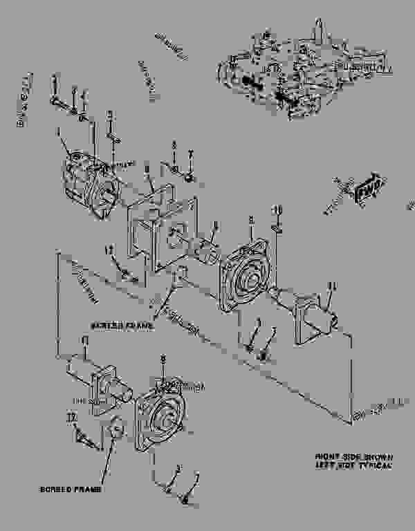 Parts scheme  REAR SCREED VIBRATOR ASSEMBLY  - ASPHALT PAVER Caterpillar 8 FT - 8'0 VIP ASPHALT SCREED 2PF00001-UP VIP ASPHALT SCREED | 777parts