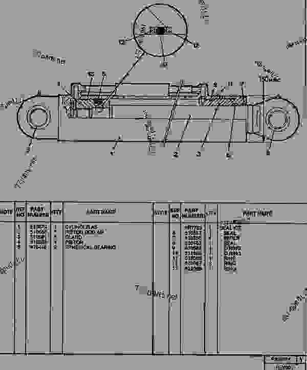 Parts scheme 0838934 OUTRIGGER RAM GROUP  - TELEHANDLER Caterpillar RT100 - RT80, RT100 TELESCOPIC MATERIAL HANDLER 1GJ00001-01207 (MACHINE) POWERED BY 3114T ENGINE FRAME AND PANELS | 777parts