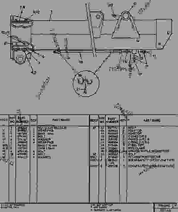 Parts scheme 0985493 NO1 BOOM SECTION GROUP   - TELEHANDLER Caterpillar RT50SA - RT50, RT50 SA, RTC60, RT60 TELESCOPIC MATERIALS HANDLER 8DJ00001-UP (MACHINE) POWERED BY 4.236 DIESEL ENGINE BOOM AND FORKS | 777parts