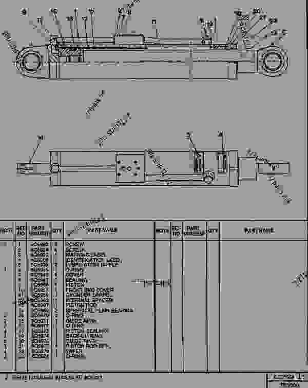 Parts scheme 8Q5968 BOOM RAISE CYLINDER   - TELEHANDLER Caterpillar RT50SA - RT50, RT50 SA, RTC60, RT60 TELESCOPIC MATERIALS HANDLER 8DJ00001-UP (MACHINE) POWERED BY 4.236 DIESEL ENGINE BOOM AND FORKS | 777parts