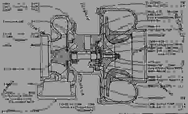 2s1885 turbocharger assembly engine truck caterpillar 1693 rh 777parts net Cat C7 Fuel Pressure Sensor Location Caterpillar C7 Engine Sensor Diagram