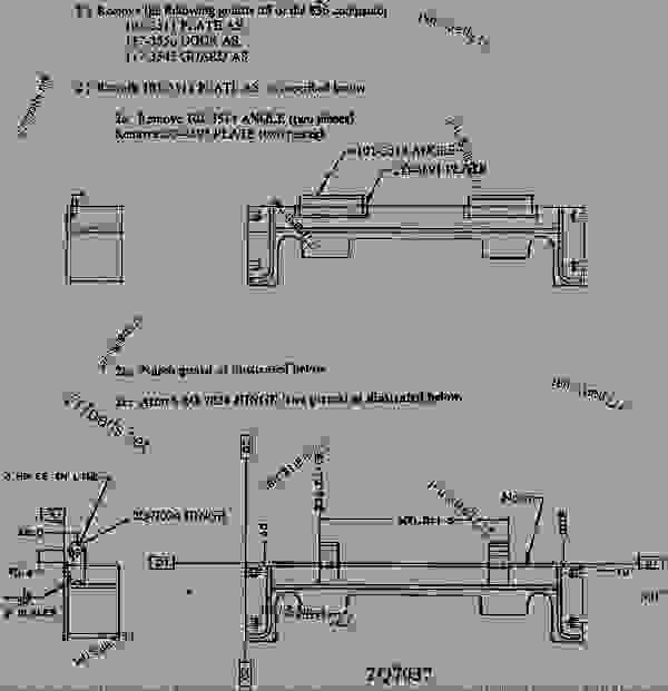 Parts scheme 1013511 PLATE AS REWORK PROCEDURE  - EARTHMOVING COMPACTOR Caterpillar 836 - 2Z-9657 KIT-POWER GUARD CUSTOM PRODUCT SUPPORT LITERATURE FO 3RL00001-UP (MACHINE) ATTACHMENTS | 777parts