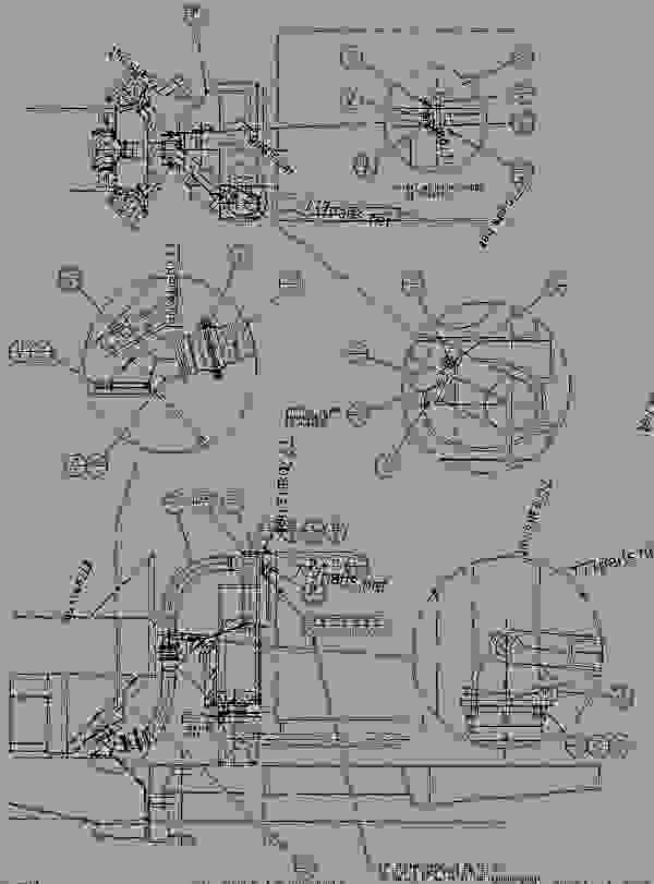 Parts scheme 1Q7523 PIPING GROUP - EXHAUST  - ARTICULATED DUMP TRUCK Caterpillar D250B - SUPPLEMENT FOR TRUCKS WITH 3Z-4401, 3Z-4406 OR 3Z-5514 MODIF 5WD00001-UP (MACHINE) INTAKE AND EXHAUST SYSTEM | 777parts