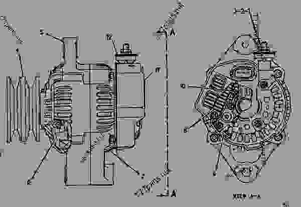 Parts scheme 1052812 ALTERNATOR GROUP-CHARGING*R  - BACKHOE LOADER Caterpillar 428B - 428B BACKHOE LOADER 7EJ00001-05999 (MACHINE) POWERED BY 3054 DIESEL ENGINE ELECTRICAL SYSTEM | 777parts