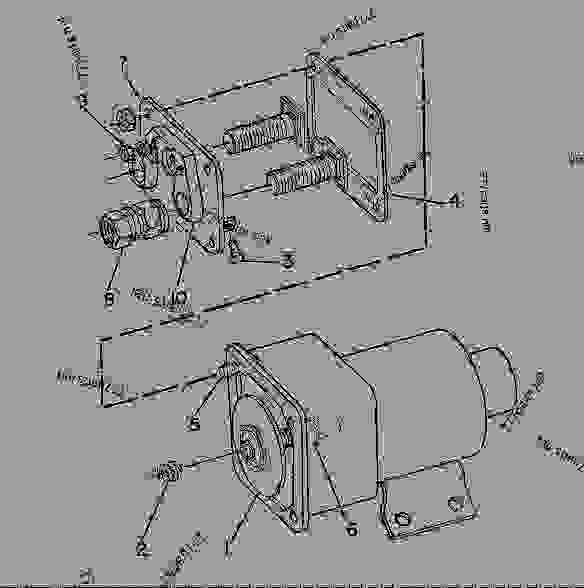 Parts scheme 7T8854 SOLENOID AS-STARTING MOTOR  - ENGINE - GENERATOR SET Caterpillar 3306 - 3306 Generator Set Engine 5JC00001-UP ELECTRICAL AND STARTING SYSTEM | 777parts