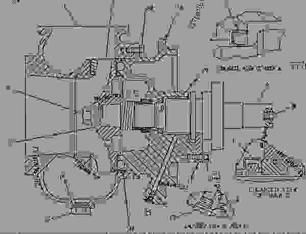 Parts scheme 7W0045 PUMP GROUP-WATER  - ENGINE - MARINE Caterpillar 3608 - 3608 GENERATOR, INDUSTRIAL, LOCOMOTIVE AND MARINE January 1980 to December 1997 6MC00001-UP COOLING SYSTEM | 777parts