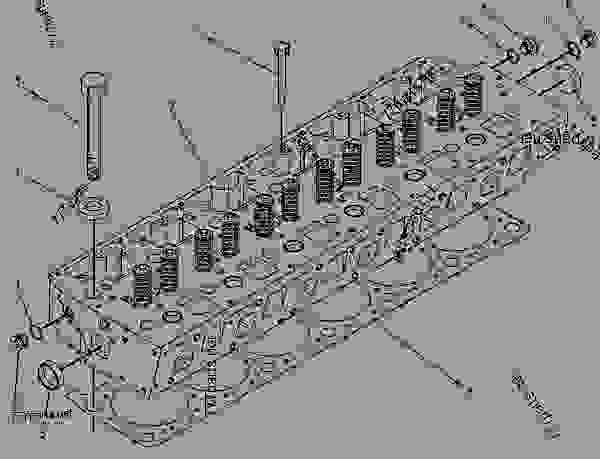 Parts scheme 9Y8871 CYLINDER HEAD GROUP  - ASPHALT PAVER Caterpillar AP-1000 - AP-1000 Asphalt Paver 1HD00001-UP (MACHINE) POWERED BY 3116 Engine BASIC ENGINE | 777parts
