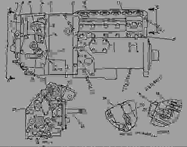 Parts scheme 7W9823 PUMP GROUP-GOV & FUEL INJ PUMP GP-GOVERNOR & FUEL INJECTION - ENGINE - GENERATOR SET Caterpillar 3306B - 3306B Generator Set 9NR00001-UP FUEL SYSTEM | 777parts