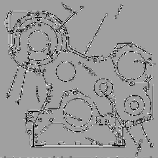 Parts scheme 8N0303 HOUSING GROUP-FRONT FRONT HOUSING GROUP - ENGINE - GENERATOR SET Caterpillar 3306 - 3306 Generator Set Engine 5JC00001-UP BASIC ENGINE | 777parts