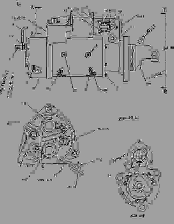 Parts scheme 6V5537 STARTING MOTOR GROUP-ELECTRIC  - ENGINE - GENERATOR SET Caterpillar 3306B - 3306 Generator Set Engine 5JC00001-UP ELECTRICAL AND STARTING SYSTEM | 777parts