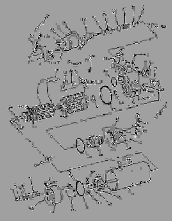 Parts scheme 6V5539 STARTING MOTOR GROUP-ELECTRIC (24-VOLT) - ENGINE - GENERATOR SET Caterpillar 3456 - 3456 Generator Set EPE00001-UP ELECTRICAL AND STARTING SYSTEM | 777parts