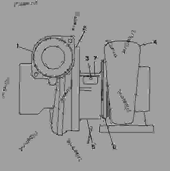 Parts scheme 7C7584 TURBOCHARGER GROUP   - ENGINE - GENERATOR SET Caterpillar 3306 - 3306 Generator Set Engine 5JC00001-UP AIR INLET AND EXHAUST SYSTEM | 777parts