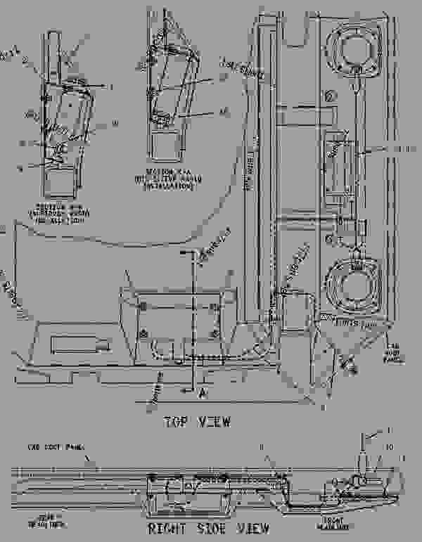 Parts scheme 1012497 INSTALLATION GROUP-RADIO  - WHEEL-TYPE LOADER Caterpillar 938F - 938F Wheel Loader 7SN00001-UP (MACHINE) POWERED BY 3116 Engine OPERATOR STATION | 777parts