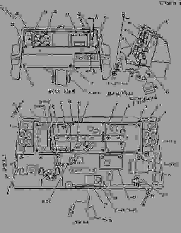 Parts scheme 1231134 PANEL GROUP-INSTRUMENT   - EARTHMOVING COMPACTOR Caterpillar 816F - 816F COMPACTOR 5FN00001-UP (MACHINE) OPERATOR STATION | 777parts