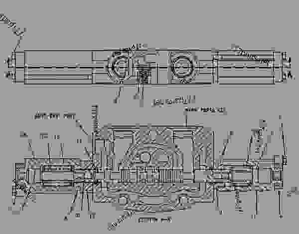 Parts scheme 1918735 VALVE GROUP-DEMAND FAN (FAN REVERSING) - EARTHMOVING COMPACTOR Caterpillar 825G II - 825G II Soil Compactor AXB00001-UP (MACHINE) POWERED BY 3406 Engine HYDRAULIC SYSTEM | 777parts