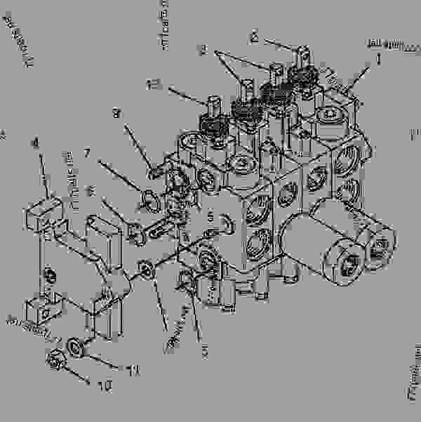 Parts scheme 1163813 VALVE GROUP-BANK 4   - BACKHOE LOADER Caterpillar 446B - 446B Backhoe Loader 5BL00001-02499 (MACHINE) POWERED BY 3114 Engine HYDRAULIC SYSTEM | 777parts