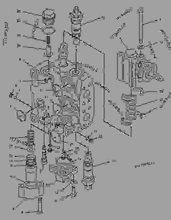 Parts scheme 9T1553 VALVE GROUP-CONTROL  - BACKHOE LOADER Caterpillar 446B - 446B Backhoe Loader 5BL00001-02499 (MACHINE) POWERED BY 3114 Engine HYDRAULIC SYSTEM | 777parts