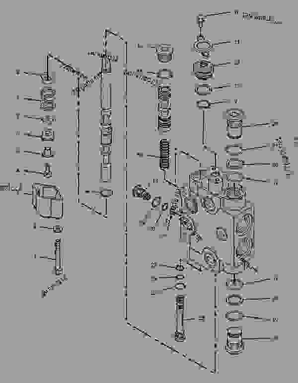 Parts scheme 6E4668 VALVE GROUP-CONTROL  -STABLIZER RH & LH - BACKHOE LOADER Caterpillar 438C - 438C Backhoe Loader Side Shift, Parallel Lift 1TR00001-01283 (MACHINE) POWERED BY 3054 Engine HYDRAULIC SYSTEM | 777parts