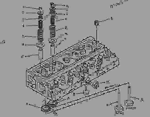 Parts scheme 6I1195 CYLINDER HEAD GROUP   - ASPHALT PAVER Caterpillar BG-230 - CATERPILLAR AP-800C BARBER-GREENE BG-230 Asphalt Pavers 9AL00001-UP (MACHINE) POWERED BY 3054 Engine BASIC ENGINE | 777parts