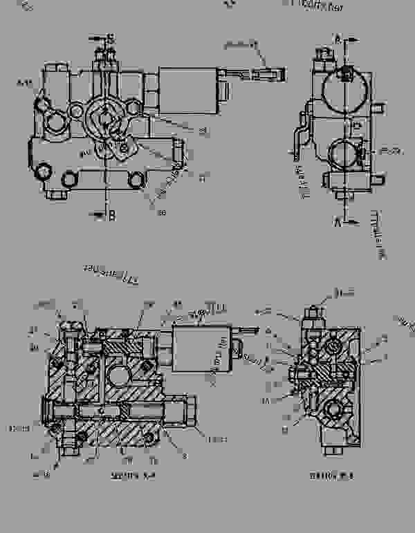 Parts scheme 1096402  VALVE GROUP-TRANSMISSION CONTROL   - BACKHOE LOADER Caterpillar 416B - 416B Backhoe Loader 8SG00001-11999 (MACHINE) POWERED BY 3054 Engine POWER TRAIN | 777parts