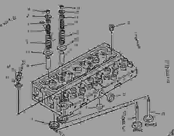 Parts scheme 1317703 CYLINDER HEAD GROUP   - ENGINE - GENERATOR SET Caterpillar 3054 - 3054 Generator Set Engine 4ZK00001-UP BASIC ENGINE | 777parts