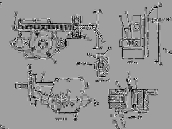 Parts scheme 9W0342  ACTUATOR GROUP-ROTARY   - CHALLENGER Caterpillar 95E - Challenger 95E Agricultural Tractor 1SM00001-UP (MACHINE) POWERED BY 3196 Engine POWER TRAIN | 777parts