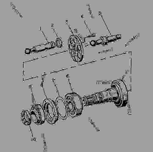 Parts scheme 9T5751  ROTATING GROUP-MOTOR   - CHALLENGER Caterpillar 85D - Challenger 85D Agricultural Tractor 4GR00001-UP (MACHINE) POWERED BY 3196 Engine DIFFERENTIAL STEERING SYSTEM | 777parts